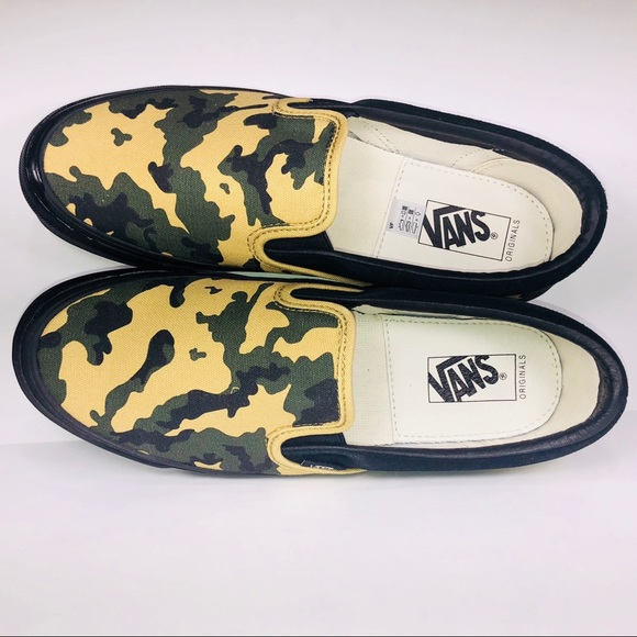 87c4f8afbe32b Vans Shoes | Og Classic Slip On Suede Camouflage Sneakers | Poshmark